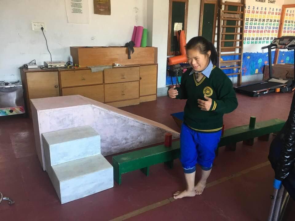 Tibetisches Mädchen im Special Care center in Chauntra Indien