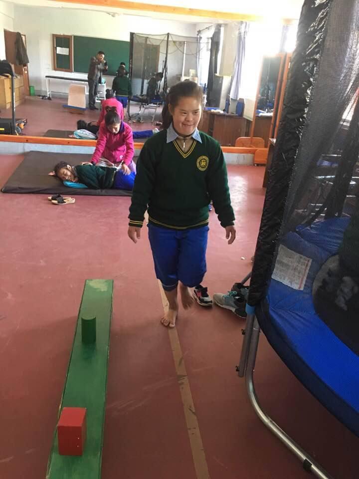 Physiotherapie Chauntra Indien Kinder mit Einschränkungen