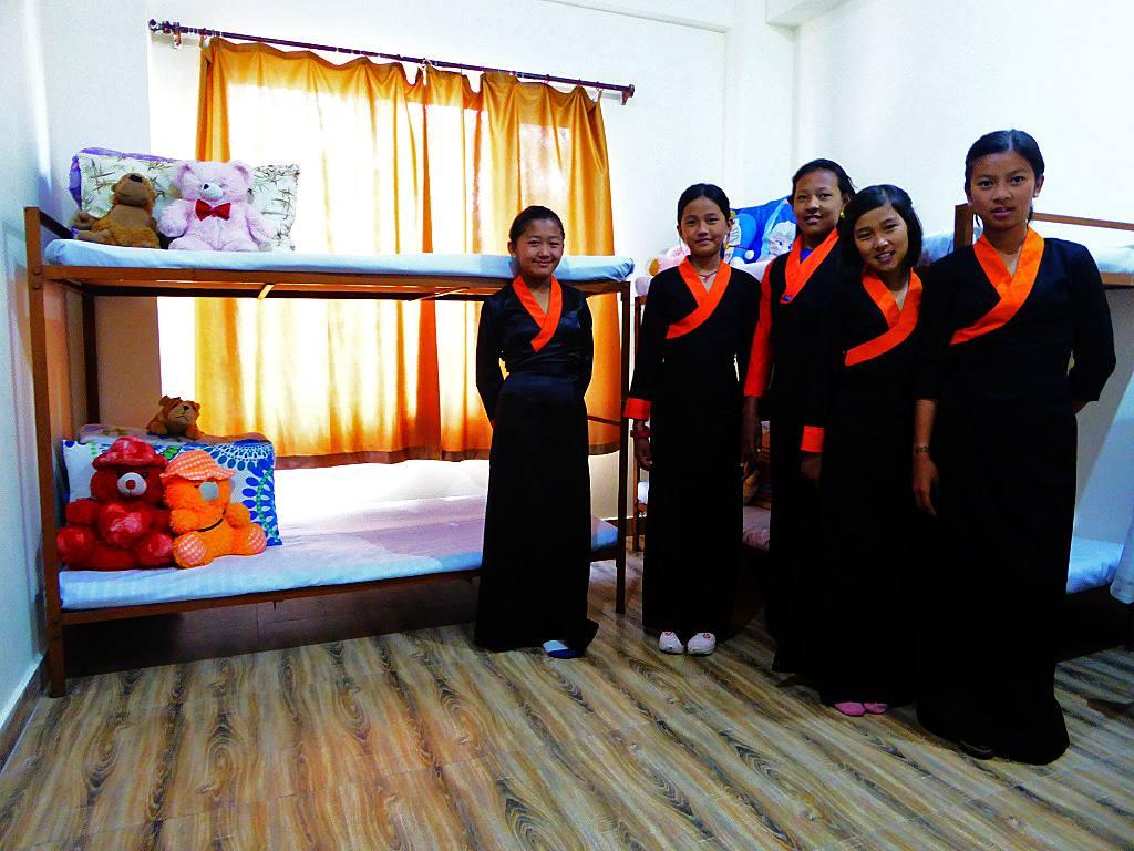 TIPA Schülerinnen Girls Hostel Indien