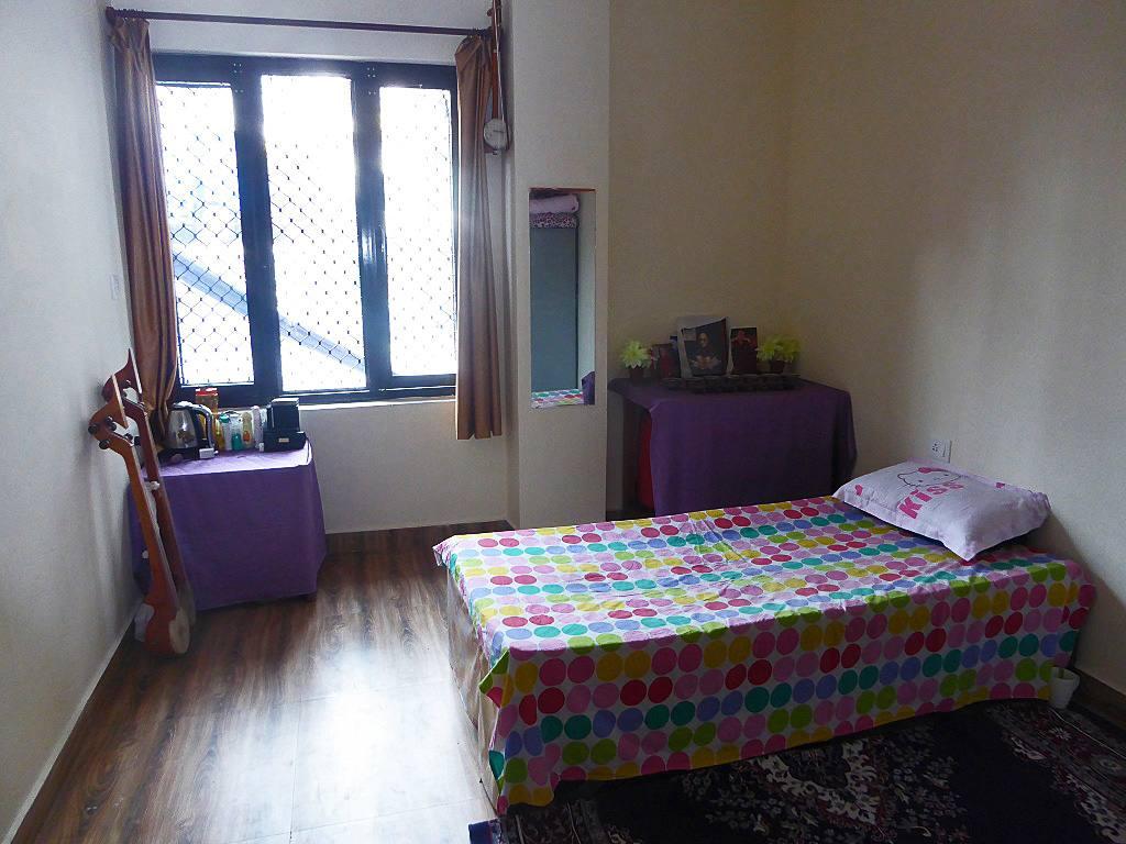 Bett Einzelzimmer Girls Hostel TIPA Indien
