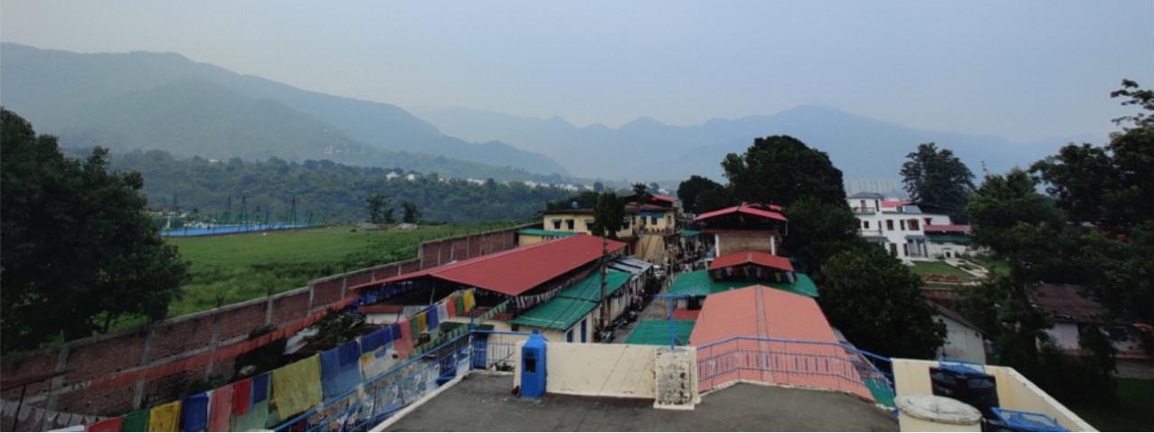 Blick über die Siedlung