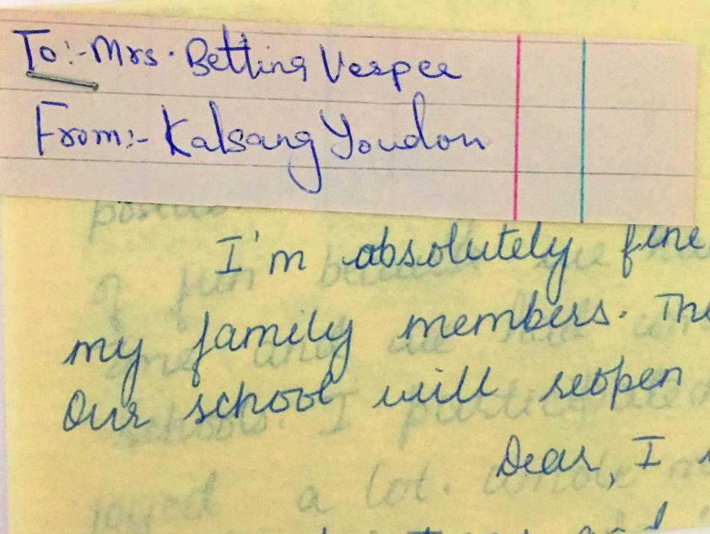 Brief von Kelsang
